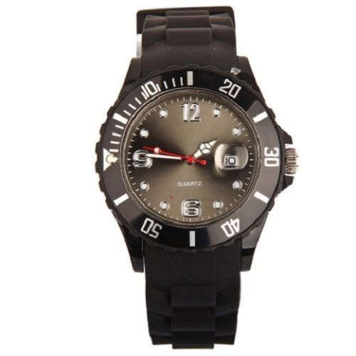 New UniSex Silicon Watch | Black