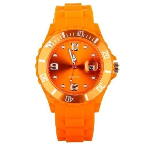 New Unisex Silicon Watch | Orange