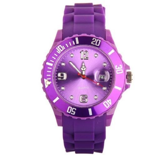 New Unisex Silicon Watch | Purple
