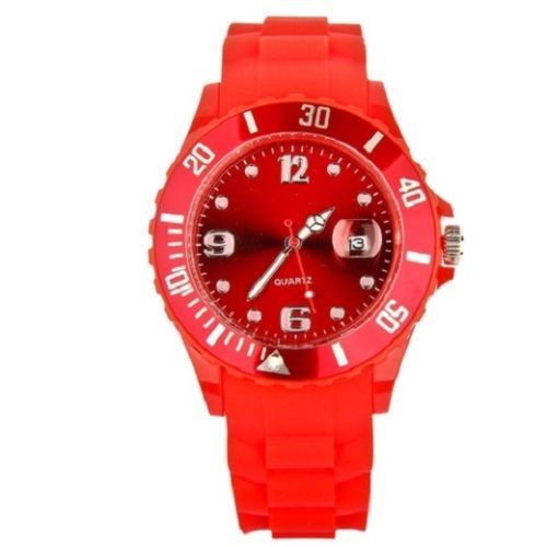 New Unisex Silicon Watch | Red