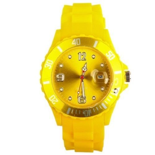 New Unisex Silicon Watch | Yellow