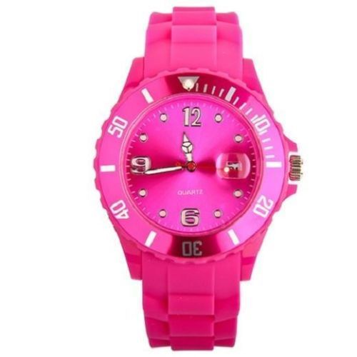 New Women's Silicon Watch | Hot Pink